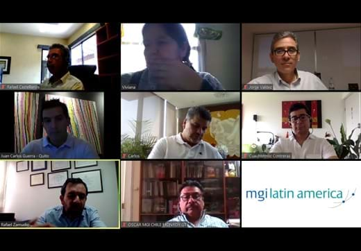 MGI World New MGI Latin America Executive Committee Zoom call