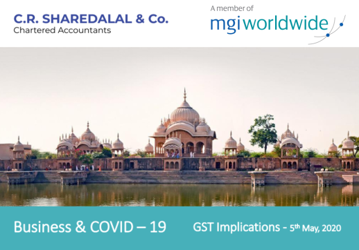 MGI World Screenshot of CR Sharedalal white paper on COVID-19 pandemic and its GST implications