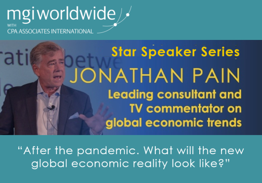 MGI World Star Speaker Webinar layout featuring Jonathan Pain