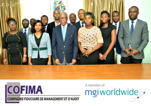 MGI World Group image of COFIMA management team with their logo and MGI logo overlaid