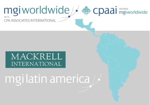 MGI World Latin Amer5ica map as background with MGI Worldwide + Latin America and Mackrell International logos