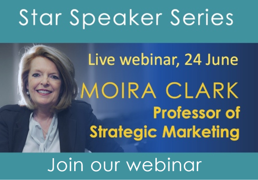 MGI World Star speaker webinar event details with host Moira Clarke picture and MGI Worldwide & CPAAI logos overlaid