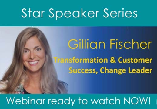 MGI World Star speaker webinar highlights layout featuring Gillian Fischer