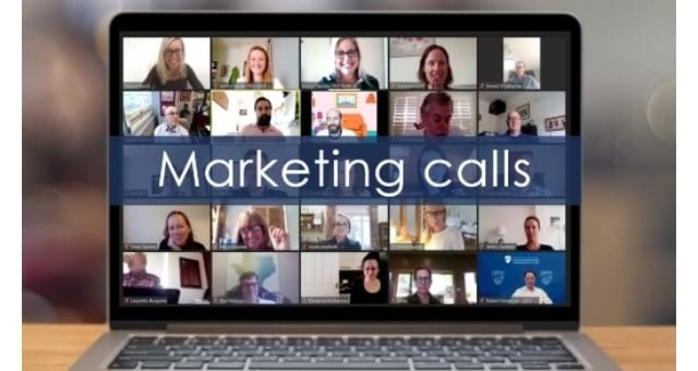 Marketing and Communications Zoom call