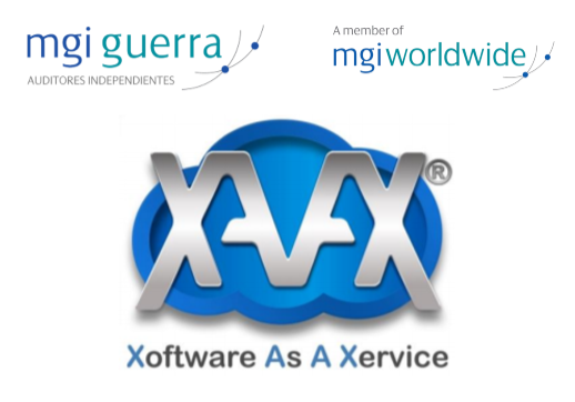 MGI World Xoftware as a Xervice XAAX logo