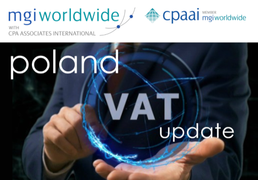 MGI World VAT Background image with Poland update overlaid