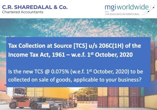 MGI World Crop of front cover of CR Sharedalal white paper on tax changes in India