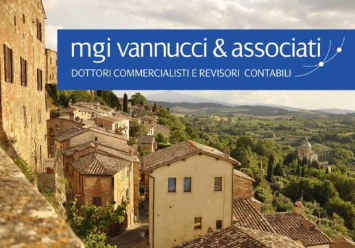 MGI World Tuscany's landscape with MGI Vannucci & Associati logo overlaid