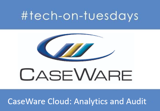 MGI World Tech-on-tuesdays image for CaseWare Cloud webinar on Analytics and Audit