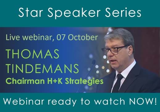 MGI World Star Speaker layout for Thomas Tindemans webinar