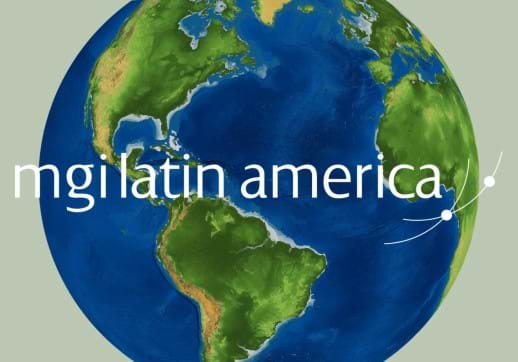 MGI World Globe image with MGO Latina America logo overlaid