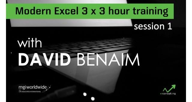 Modern Excel 3-hour Training: Session 1