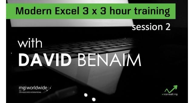 Modern Excel 3-hour Training: Session 2