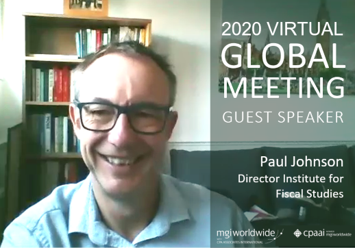 MGI World Picture of Paul Johnson: guest speaker at the 2020 Virtual Global Meeting