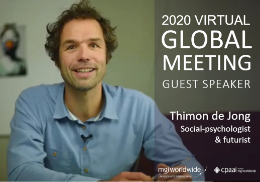MGI World Picture of Thimon de Jong: guest speaker at the 2020 Virtual Global Meeting