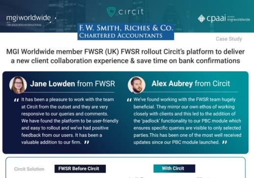"MGI World Print screen of the success story behind ""FWSR rollout Circit's platform"""