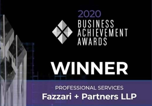 MGI World Fazzari + Partners LLP won the Professional Services Category Award