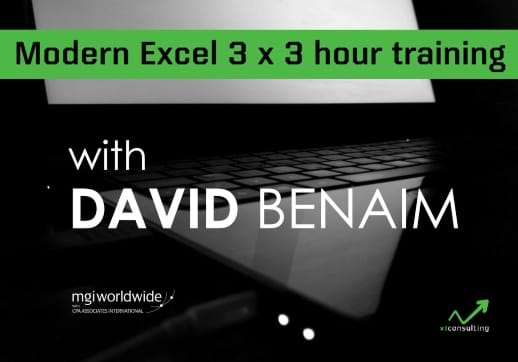MGI World Computer background for David Benaim's training on Modern Excel