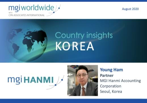 MGI World Lead image of profile picture and globe on blue background for Korea Country Insight