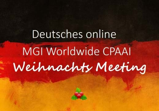MGI World Germany's flag background for MGI CPAAI Germany's Christmas meeting