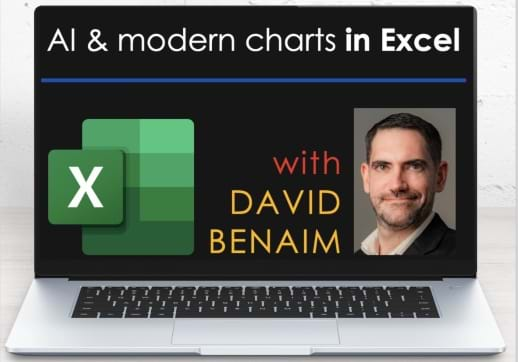 MGI World Laptop background for David Benaim webinar's on AI And Modern Charts In Excel
