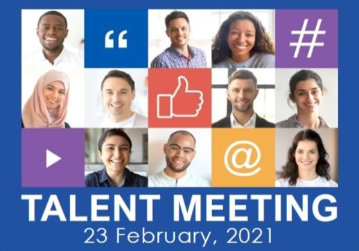 MGI World Faces and signs as background for Talent Meeting 2021 visual