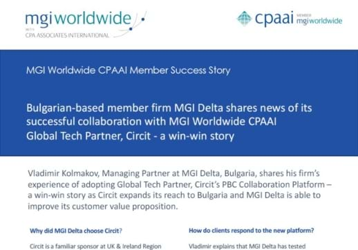 MGI World Partial screenshot of MGI Delta and Circit collaboration success story