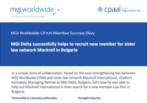 MGI World Print screen of Delta Mackrell Success Story for lead image - first page section