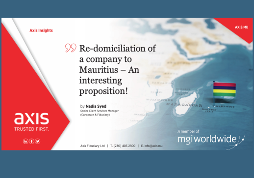 MGI World Axis Redomiciliation White Paper, crop of front page Feb 2021