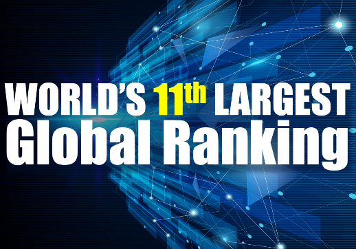 MGI World Abstract background with white text for the IAB world rankings