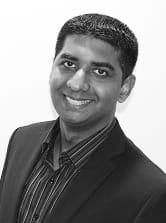 MGI World Imran Assan from MGI Worldwide member firm MGI Alliance PAC (formerly MGI Menon & Associates), Singapore, black and white profile photo