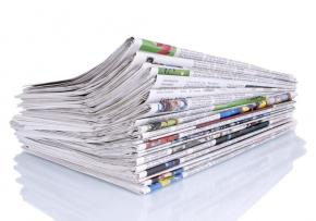 MGI World MGI Worldwide UK & Ireland Area news item, folded newspapers image