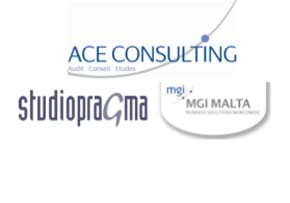 MGI World MGI Worldwide MENA Area news item, member accounting firms ACE Consulting, Studio Pragma, MGI Malta logos 3
