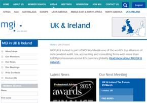 MGI World MGI Worldwide UK & Ireland Area website page screen shot