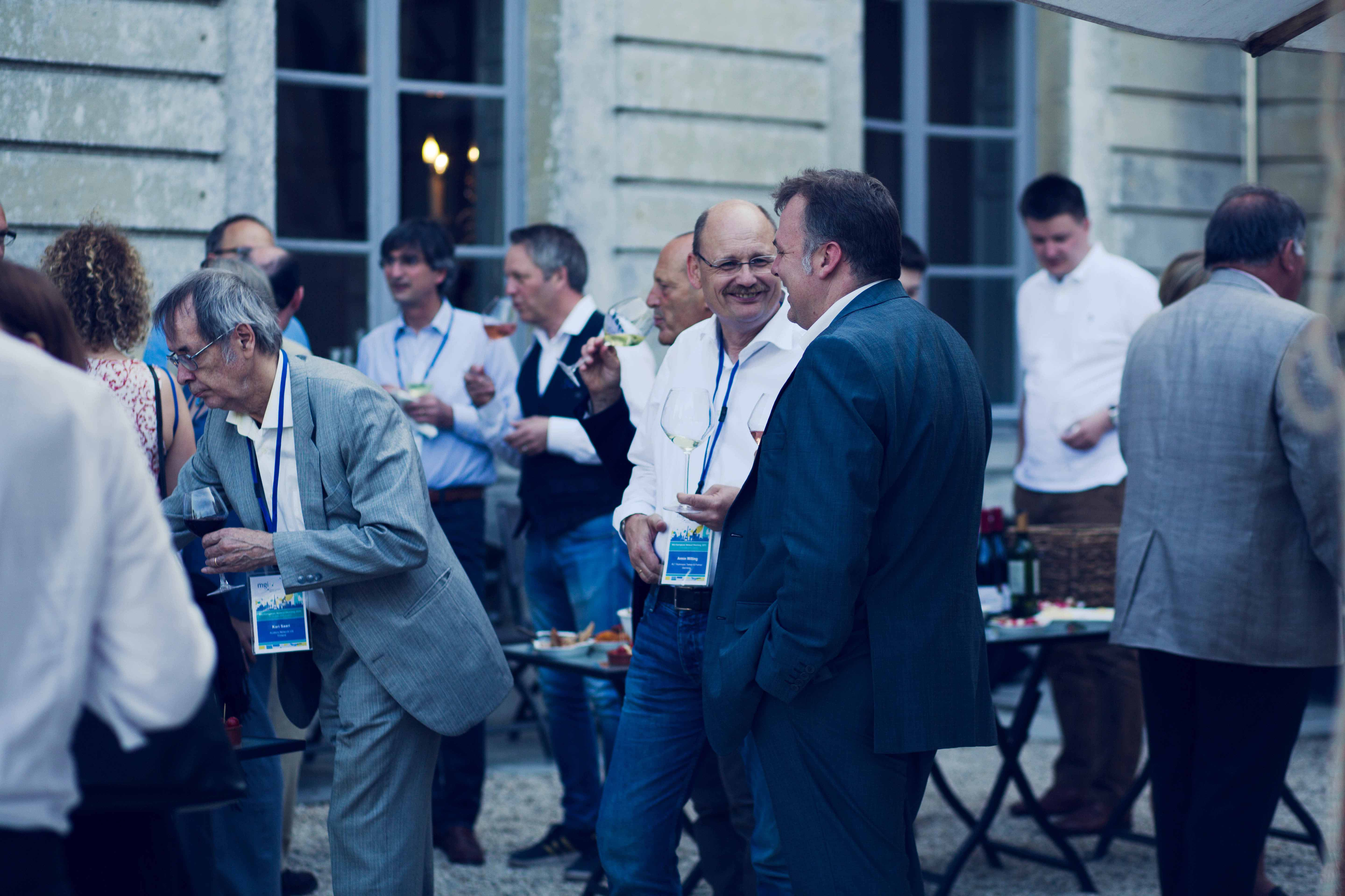 MGI World MGI Worldwide Europe Area Meeting 2015, Le Grand Mello, delegates outdoor drinks image 5