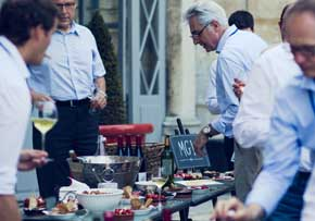 MGI World MGI Worldwide Europe Area Meeting, France 2015, main image for news article, courtyard buffet