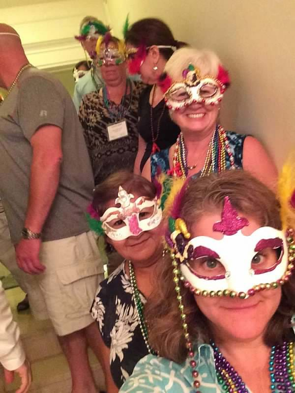 MGI World MGI Worldwide North America Area Meeting 2015, New Orleans, Group 1 team building mask parade image