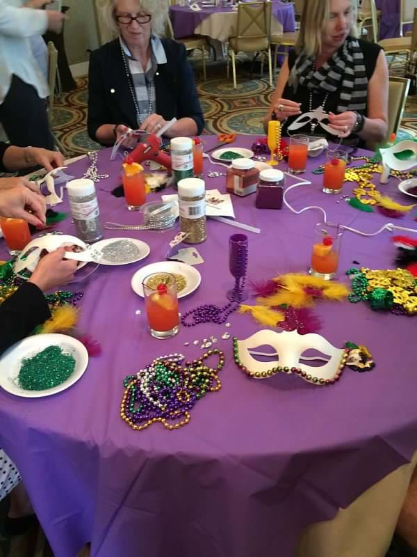 MGI World MGI Worldwide North America Area Meeting 2015, New Orleans team building, mask making table image