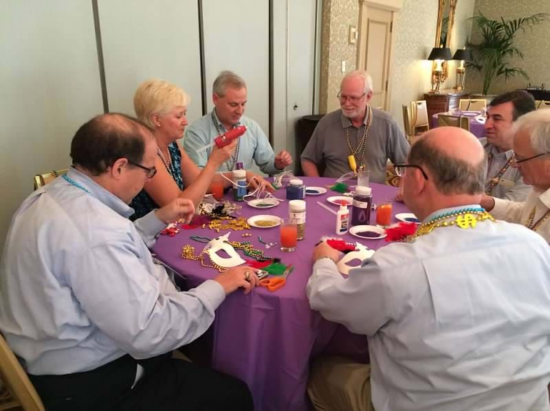 MGI World MGI Worldwide North America Area Meeting 2015, New Orleans team building, mask making table 1 image
