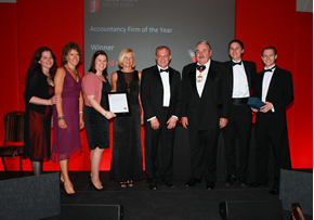 MGI World MGI Worldwide, UK & Ireland Area news item, member accounting firm Chartered Accountants Rickard Keen Named Acountancy Firm Of The Year, black tie event image