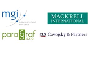 MGI World MGI Worldwide accounting network Newsroom item, MGI/Mackrell Collaboration, four logos image