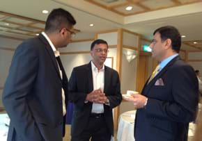 MGI World MGI Worldwide Asia Area meeting, 2015 Seoul, coffee break discussion image