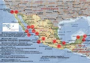 MGI World MGI Mexico Internal Audit Initiative, Mexico accounting firm members map illustration