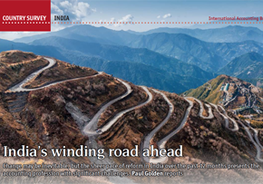 MGI World MGI Worldwide news item, IAB Country Survey India, image of hairpin bends on mountain side
