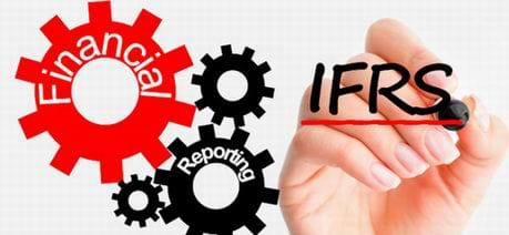 MGI World MGI Worldwide Middle East and North Africa Area, IFRS hand and cogs logo
