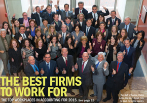 MGI World MGI Worldwide accountants global network member CPA firm Santos Postal, Best Firm to work for, 2015, group image
