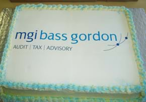 MGI World MGI Worldwide member MGI Bass Gordon cake